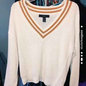 🍂 FOREVER 21• cream and caramel sweater 🍂